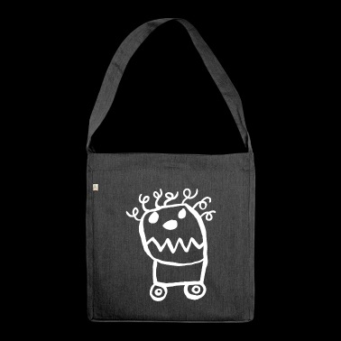 Monster on wheels - Shoulder Bag made from recycled material