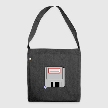 floppy disk - Shoulder Bag made from recycled material