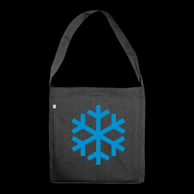 Snowflake Weather Icon Icon - Shoulder Bag made from recycled material