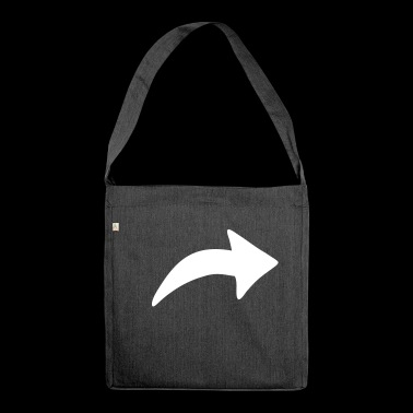 Arrow thick - Shoulder Bag made from recycled material