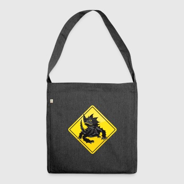 Australia Roadsign Thorny Devil - Shoulder Bag made from recycled material