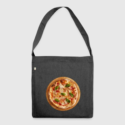 pizza margherita pizzeria food food - Shoulder Bag made from recycled material
