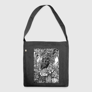 Old tree in the garden - Shoulder Bag made from recycled material