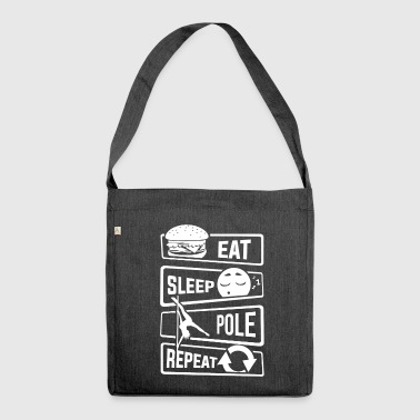 Eat Sleep Pole Dance Repeat - Dance Pole Dance - Shoulder Bag made from recycled material