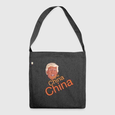 Donald Trump - China China China - Schultertasche aus Recycling-Material