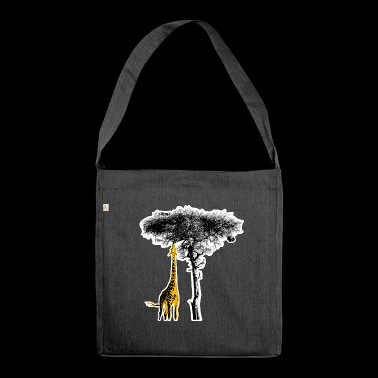 Giraffe Africa Safari Wilderness - Shoulder Bag made from recycled material