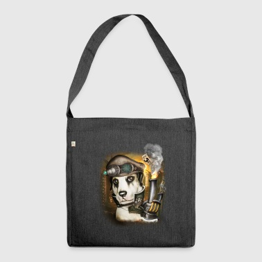 Steampunk Dog # 3 - Shoulder Bag made from recycled material