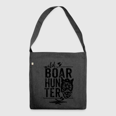 Boar hunter - Wild Boar Hunter - Shoulder Bag made from recycled material