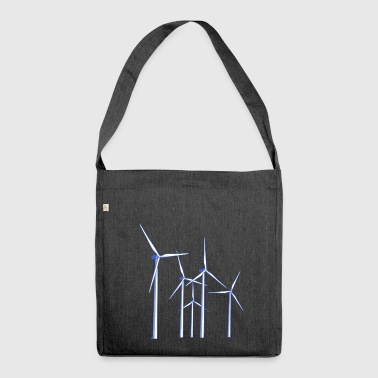 wind turbines - Shoulder Bag made from recycled material