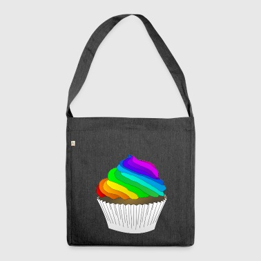 rainbow sun clouds weather rainbow sun cloud76 - Shoulder Bag made from recycled material