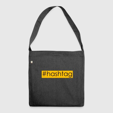 hashtag #hashtag - Schultertasche aus Recycling-Material
