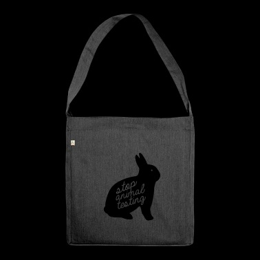 Stop Animal Testing Bunny - Shoulder Bag made from recycled material