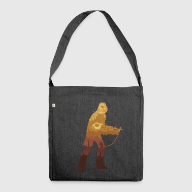 Chewbacca Silhouette - Schultertasche aus Recycling-Material