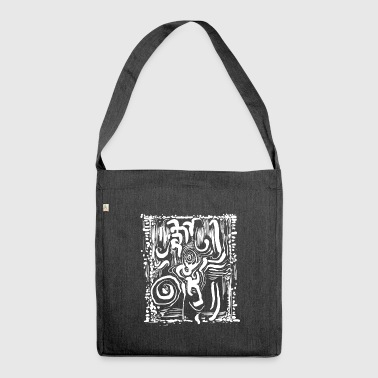Maori tribal monkey - Shoulder Bag made from recycled material