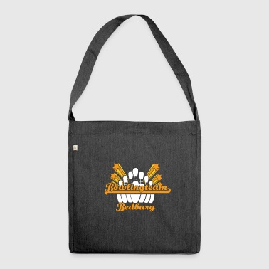 bowling team bowlerin bowler strike 9 Bedburg - Schultertasche aus Recycling-Material