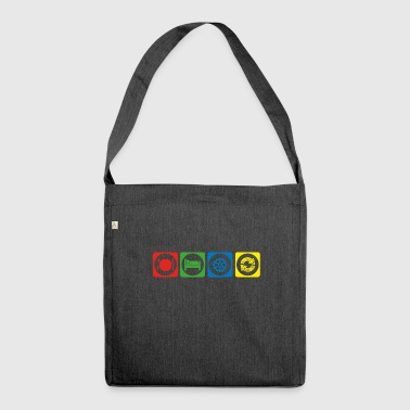 gift eat sleep repeat cycling cycle bicycle ke - Shoulder Bag made from recycled material