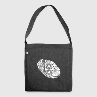 fingerprint dna dns gift iron cross iron - Shoulder Bag made from recycled material