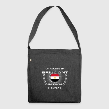 I AM GENIUS CLEVER BRILLIANT EGYPT - Schultertasche aus Recycling-Material