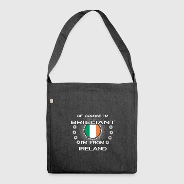 I AM GENIUS CLEVER BRILLIANT IRELAND - Schultertasche aus Recycling-Material
