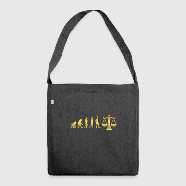 evolution human ekg heartbeat lawyer justice justic - Shoulder Bag made from recycled material