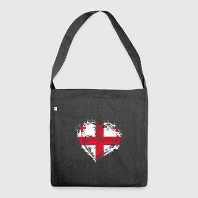 HOME ROOTS COUNTRY GIFT LOVE Georgia - Schultertasche aus Recycling-Material