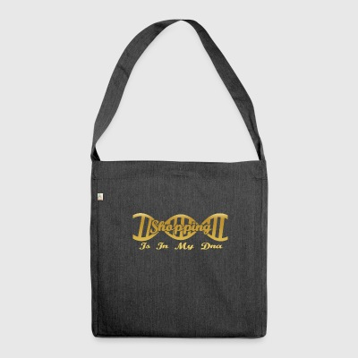 Dna dns evolution hobby gift Shopping - Shoulder Bag made from recycled material