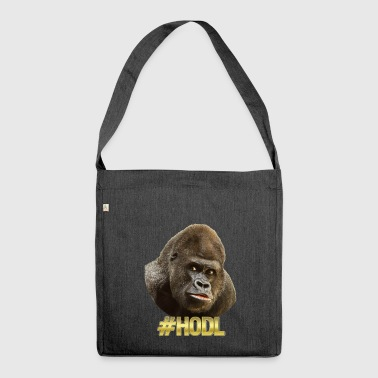Gorilla #HODL Gold - Shoulder Bag made from recycled material