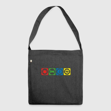 eat sleep repeat krypto hodl bitcoin START krypto - Schultertasche aus Recycling-Material