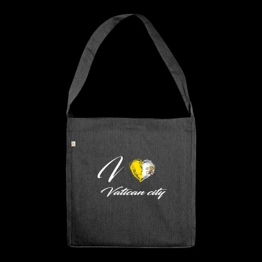 I Love Home Country Flag Roots Vatican city - Shoulder Bag made from recycled material
