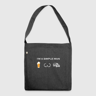 simple man like boobs beer beer tits ambulance - Shoulder Bag made from recycled material