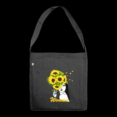 Blooming Woman - Shoulder Bag made from recycled material