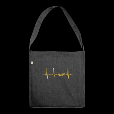 evolution ekg heartbeat sportscar racer racer rac - Shoulder Bag made from recycled material