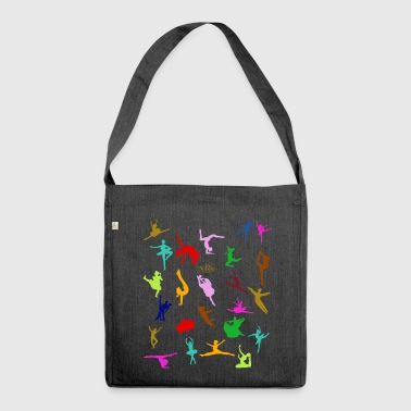 COLORFUL SILHOUETTES - Schultertasche aus Recycling-Material