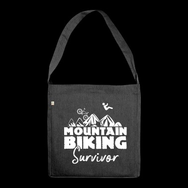 Mountainbiking Survivor - Shoulder Bag made from recycled material