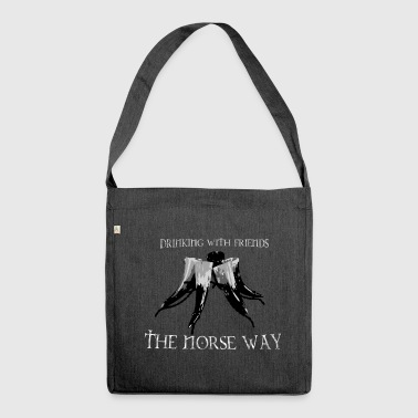 Drinking with Friends - The Norse Way! - Shoulder Bag made from recycled material