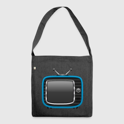 Retro Tv Blue 002 AllroundDesigns - Shoulder Bag made from recycled material