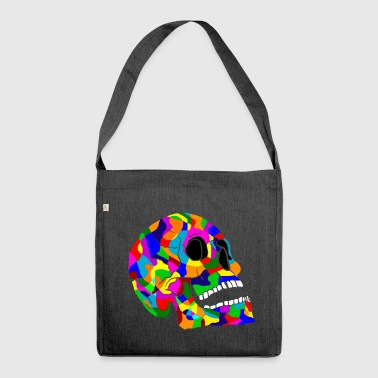 Colorful skull skulls Skull - Shoulder Bag made from recycled material