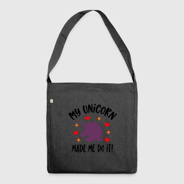 My Unicorn Made Me Do It - Shoulder Bag made from recycled material