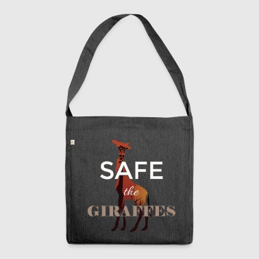 Safe the Giraffes - Shoulder Bag made from recycled material