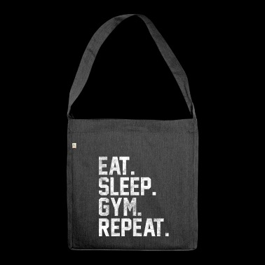 Eat Sleep Gym Repeat Gym Bodybuilding - Shoulder Bag made from recycled material