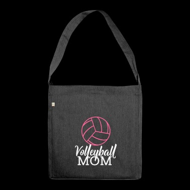 Volleyball Mom Beachvolleyball Muttertag Ballsport - Schultertasche aus Recycling-Material