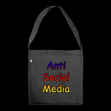 Anti social media - Shoulder Bag made from recycled material