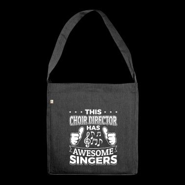 choir AWESOME singers - Schultertasche aus Recycling-Material