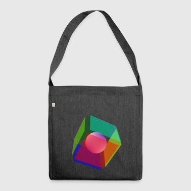 Cube & Sphere - Schultertasche aus Recycling-Material