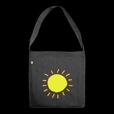 Sonne - Schultertasche aus Recycling-Material
