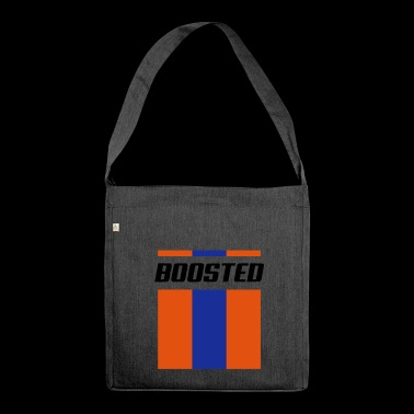 Boosted stripes - Shoulder Bag made from recycled material