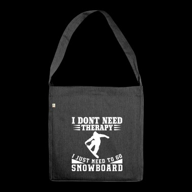 SNOWBOARD - Schultertasche aus Recycling-Material