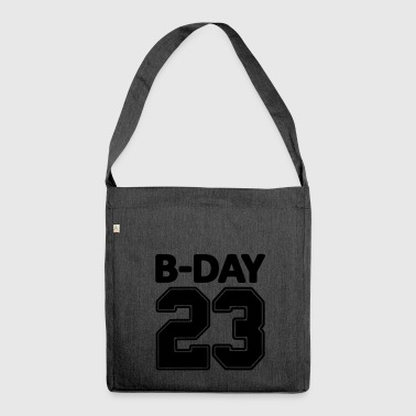 23rd birthday bday 23 number numbers jersey number - Shoulder Bag made from recycled material