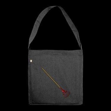 cleaning cleaning cleaning woman broom wischmop63 - Shoulder Bag made from recycled material