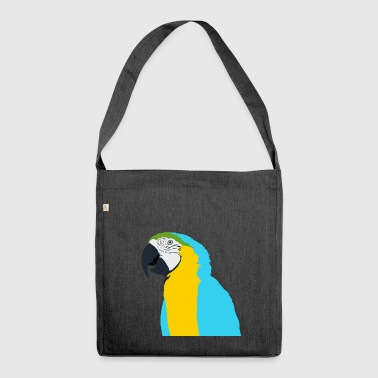 Parrot blue yellow green beak - Shoulder Bag made from recycled material